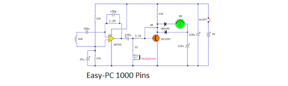 Easy-PC 1000 Pins