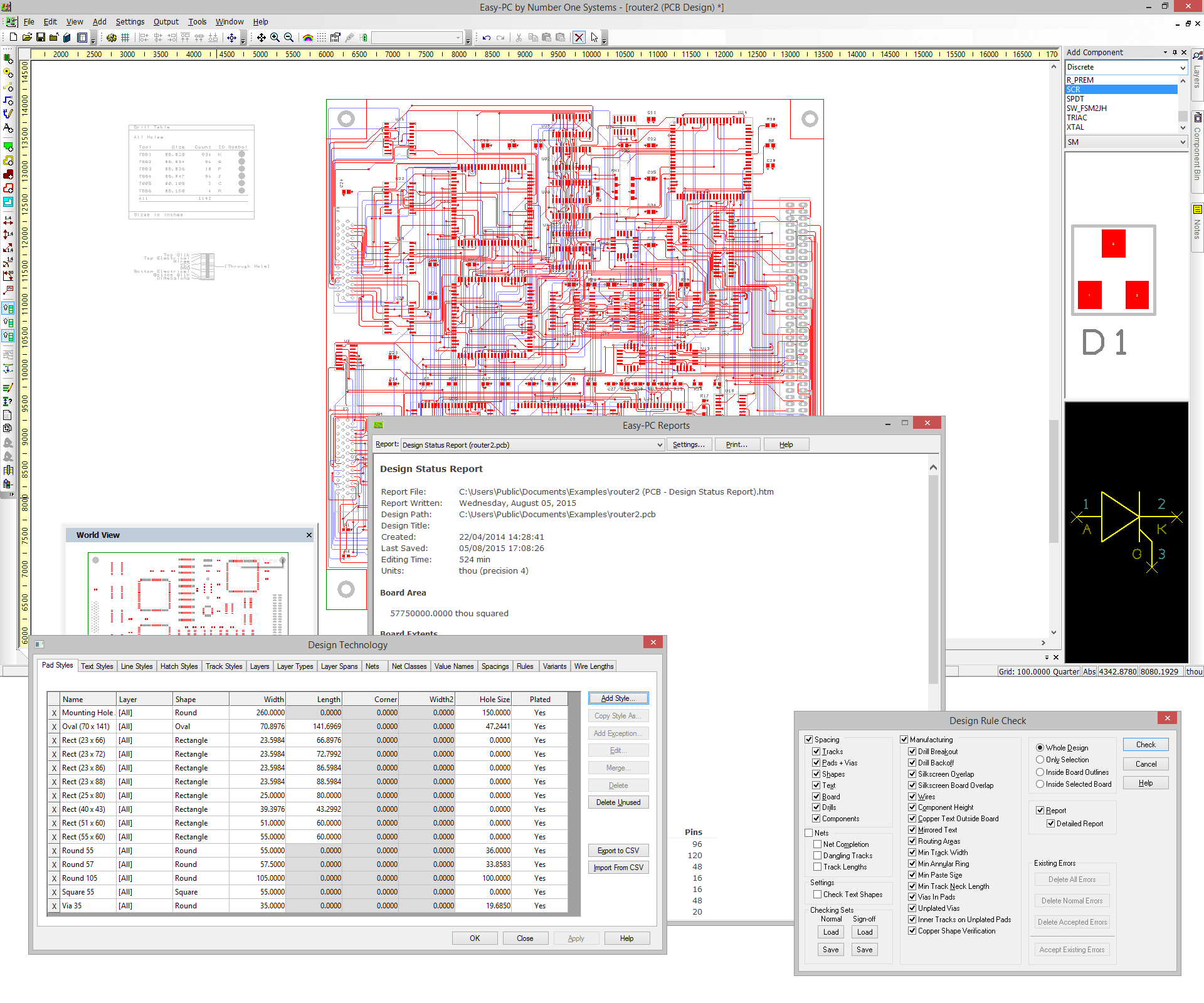 Easy-PC Unlimited Pins